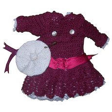 Authentic Crocheted Dress for Mignonette