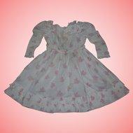 An Authentic beautiful antique Cotton dress for Bisque dolls