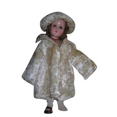 Soft Mohair Coat and hat/beret for dolls