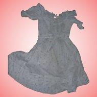 Pale blue cotton Antique Dress for dolls