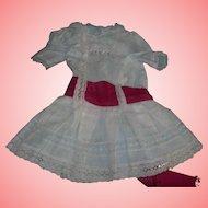 Darling antique Dress for German Bisque doll