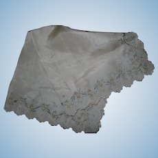 A beautiful silk handkerchief for dressing doll