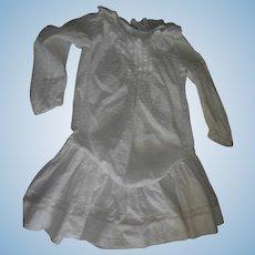 Antique Drop waist White dotted Swiss Dress