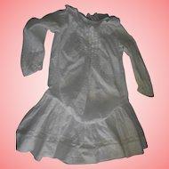 Antique Drop waist White fuzzy dotted Swiss Dress