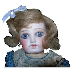 """6-7"""" Blond Human Hair Wig France used for Bleuettes"""