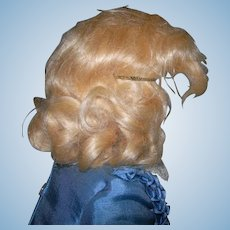 "7"" Vintage Light Golden Blond Mohair Mid Century Wig"