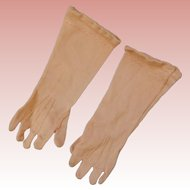 Antique French 5.5 Inch Silk  Elbow Length Gloves