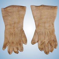 Miniature White leather Gloves for Chunky French Hands