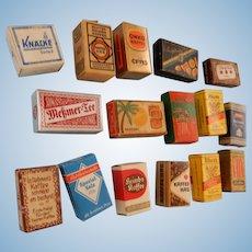 15 Miniature German  Food Boxes