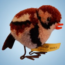 Small Steiff Sparrow with Moving  Wire legs