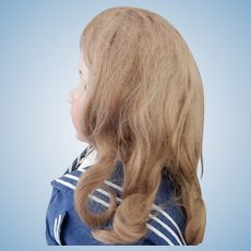 13.75 Inch  Full Ash Blonde Mohair Wig