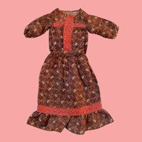 Antique Calico 2 Piece Dress for Early China