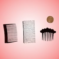Three Hair Combs for French Fashions