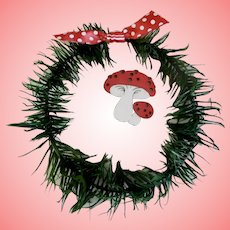 Authentic  Artist Feather Tree Wreath
