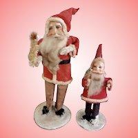 Miniature  Celluloid Face Santas
