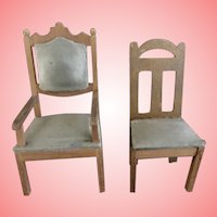 Gottschalk Chairs for Small Dolls or All Bisque