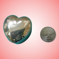 Miniature Sterling Heart Box for Fashions