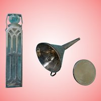 Miniature Sterling Perfume Bottle and Funnel for Fashion