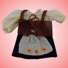 Tiny All Bisque Doll Dress