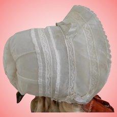 Vintage Bonnet with Lace Detail