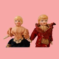 Tiny All Original Little Couple for Your Doll House