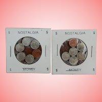 Nostalgic Very Miniature Coins for Fashion or Dollhouse