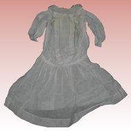 "Inventory Sale*** Gorgeous White Batiste dress Drop waist  22-24"" dolls"