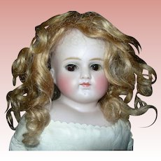 """18"""" Pale Early Turned head Gorgeous facial Paint CM Mohair wig"""