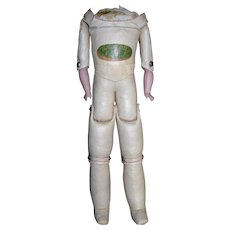 """12"""" tall Oil Cloth Marked Floradora Body Bisque arms...WOW!"""