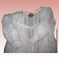 Antique Batiste Christening Gown & Petticoat Tuck work, lace and feather stitching Amazing handy work