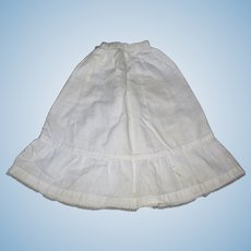 Antique Creamy White cotton Petticoat for French Fashion lady doll