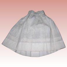 Amazing Antique Petticoat hand sewn Tucks!