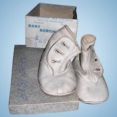 2 Pairs of leather baby shoes....perfect for large dolls