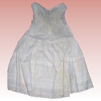 Gorgeous Tuck work on Antique Child's Petticoat