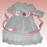 """Vintage Dress for 28 1/2"""" Bisque doll with shawl and sash"""