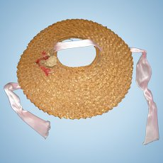 Vintage straw hat for dolls
