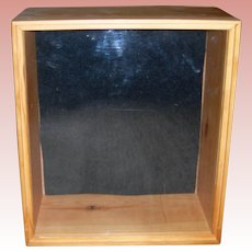 Small Wooden Display case 9 1/2 by 8 1/4 by 4 1/2""