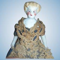 """3 1/2"""" Tall Antique Sweet Parian Doll All Original."""