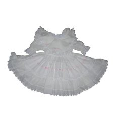 Large Cotton Eyelet Dress for Bisque doll with Undies