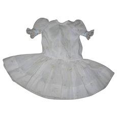 Antique Fabrics Drop Waist Dress for German Bisque doll