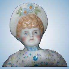"13"" Emma Clear 1947 Molded Bonnet Parian doll"