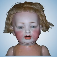 """18"""" Character LWC Bisque Baby #152/11 Naked & Gray blue eyes!"""