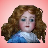 "17"" HH SH Antique Bisque Doll Marked body Gorgeous"