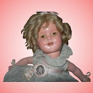 """13"""" Composition Shirley Temple All Original"""