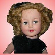 "18"" Vinyl Flirty Eyes Shirley Temple Rare dress tagged Gorgeous Face"