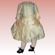 """Silk Dress with shoes and socks for Bisque dolls 22"""" Tall"""