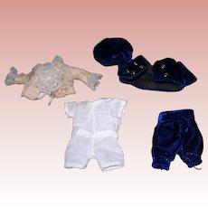 "5 1/2"" All bisque Boy clothing Blue Velvet"