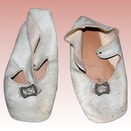 Antique Leather Shoes for large Bisque Dolls