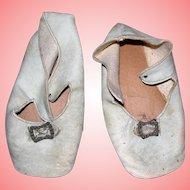 Antique Leather Shoes for large Simon-Halbig/ Handwerck Bisque Dolls