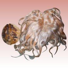 Antique Blond Mohair wig & Kestner Plaster Pate